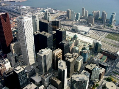 A bird's eye view of the #Toronto Financial District.
