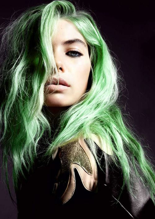 green hair #green #hair #beauty