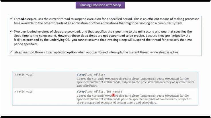 Java Tutorial : Java Threads (Thread Sleep | Thread sleep in java_V2)