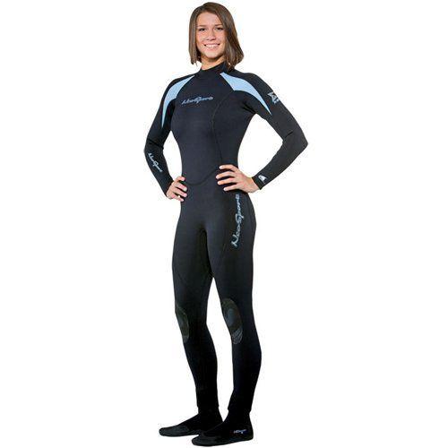 NeoSport Wetsuits Women's XSPAN Full Jumpsuit, Powder Blue Trim, 8 - Diving…
