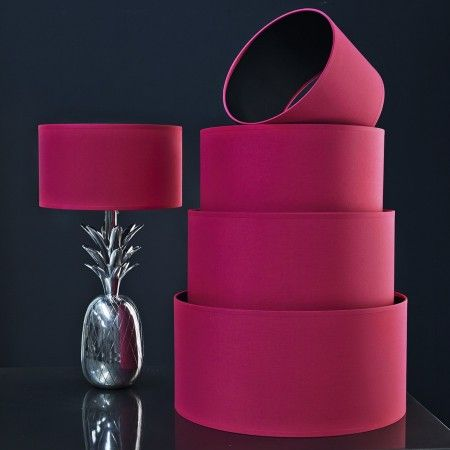 Hot Pink & Black Cotton Shade - Lamp Shades - Lighting Accessories - Lighting & Mirrors