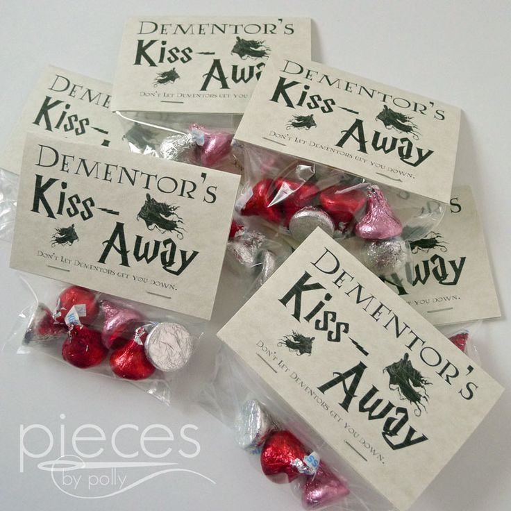 Pieces by Polly: Free Harry Potter Themed Printable - Dementor's Kiss-Away - Party Favors