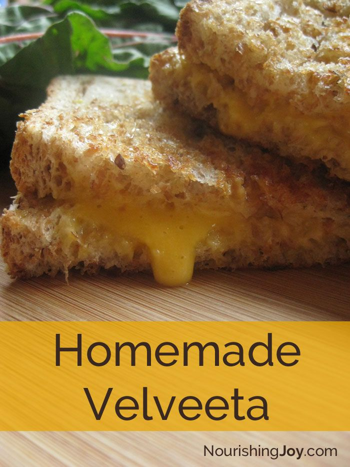 Forget the store-bought version! Try our super-easy, HEALTHY Homemade Velveeta - with all real food ingredients!