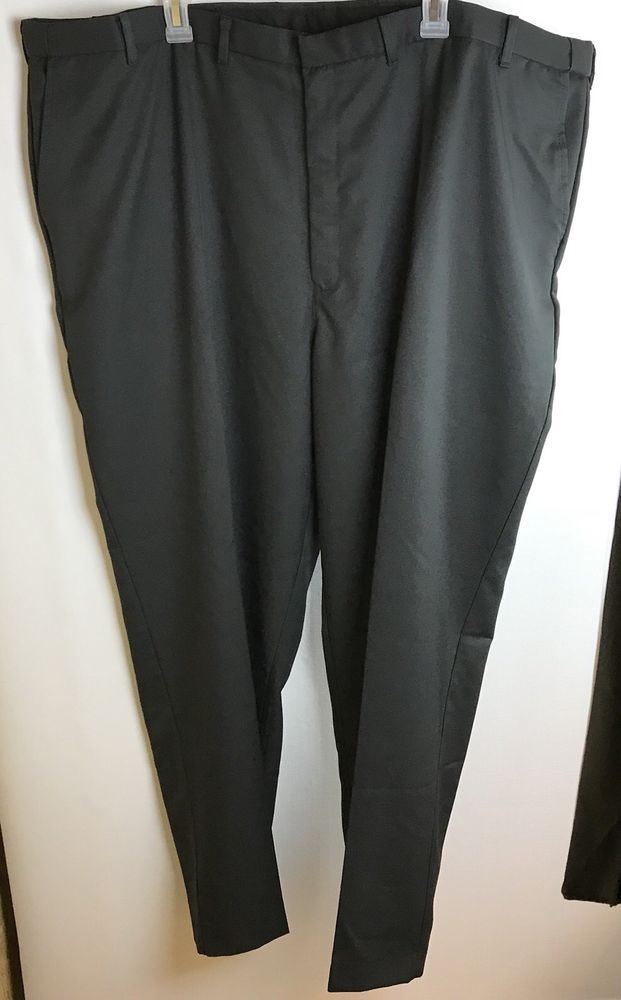 NWT Edwards Size 50 UL Men's Dress Pants Polyester Garment Waist 48 Black Office #Edwards #DressPleat