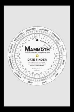 Mammoth Date Finder Wheel $4.14 http://www.mammothonthemove.com/date-finder-wheel/