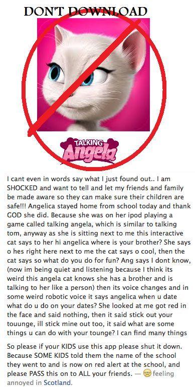 READ ASAP DON'T DOWNLOAD TALKING ANGELA, TALKING TOM