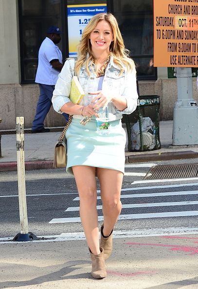 Hilary on set and stylish. From the creator of Sex and The City, 'Younger' stars Sutton Foster, Hilary Duff, Debi Mazar, Miriam Shor and Nico Tortorella. Discover full episodes at http://www.tvland.com/shows/younger.
