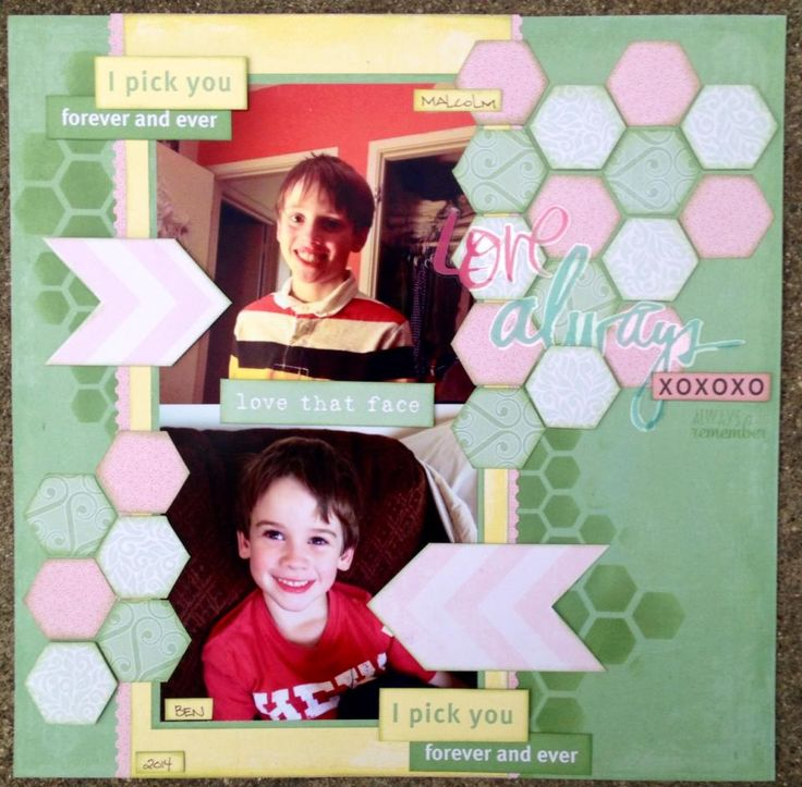 Love Always - layout using The Paper Loft papers