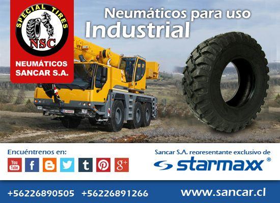 Industrial sm 125   Neumáticos Industriales Starmaxx SM 125 de alto rendimiento en tracción. Función de auto-limpieza. Mayor vida útil y comodidad sobre superficies duras.  Representante Exclusivo en Chile de Starmaxx Neumáticos Sancar, Todos en un solo lugar. http://www.sancar.cl/ | ventas@sancar.cl | +56226890505 | +56226891266