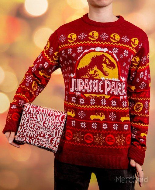 a638d430af3 Jurassic Park  Knitted Christmas Sweater Jumper