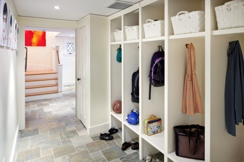 Would like each person in the house to have their own cubby in a mudroom.  Would also like more shoe space.