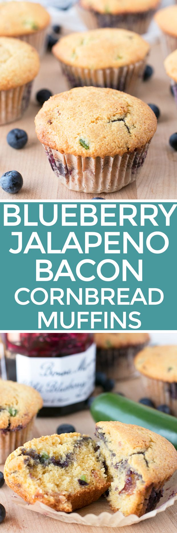Blueberry Jalapeno Bacon Cornbread Muffins – Cake 'n Knife