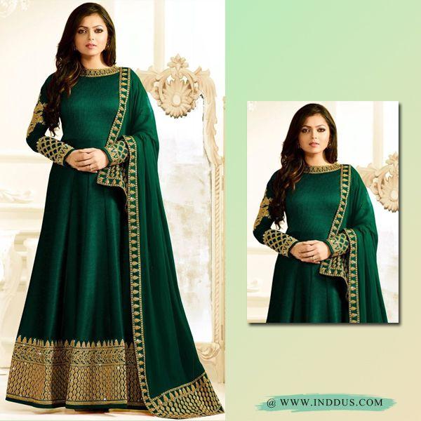 inddus Beautiful #drashtidhami Green partywear anarkali suit at Inddus