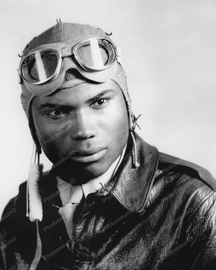 African American Pilot Tuskegee Airmen WWII 8x10 Reprint Of Old Photo