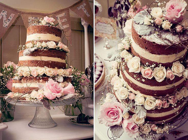 Nude Wedding Cake #weddingcake #vintagewedding Photography by www.melleweddingphotography.com.au