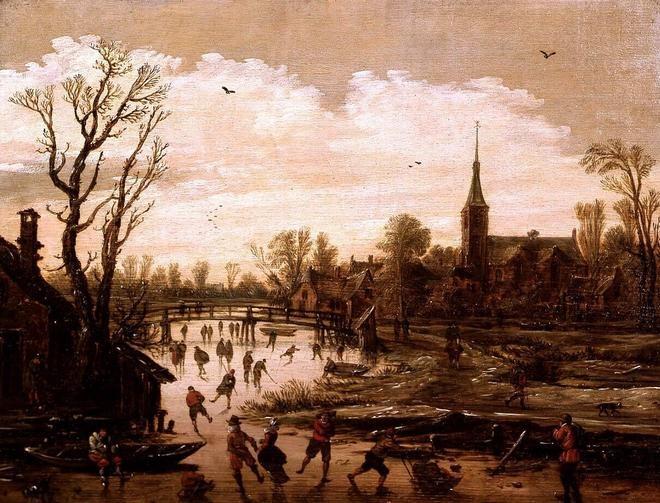 Jan van Goyen, Winter Scene near a Village, ca. 1625. Frans Hals Museum #franshalsmuseum #haarlem #art