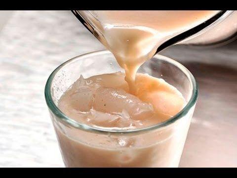 Horchata de coco. Una variante de la receta tradicional de horchata de arroz con un toque de sabor a coco.