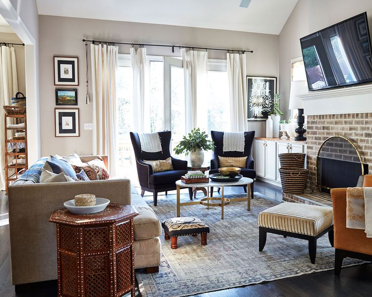 Home Tour: Natalie Nassaru0027s Layered, Family Home. Monday InspirationLiving  Room ...