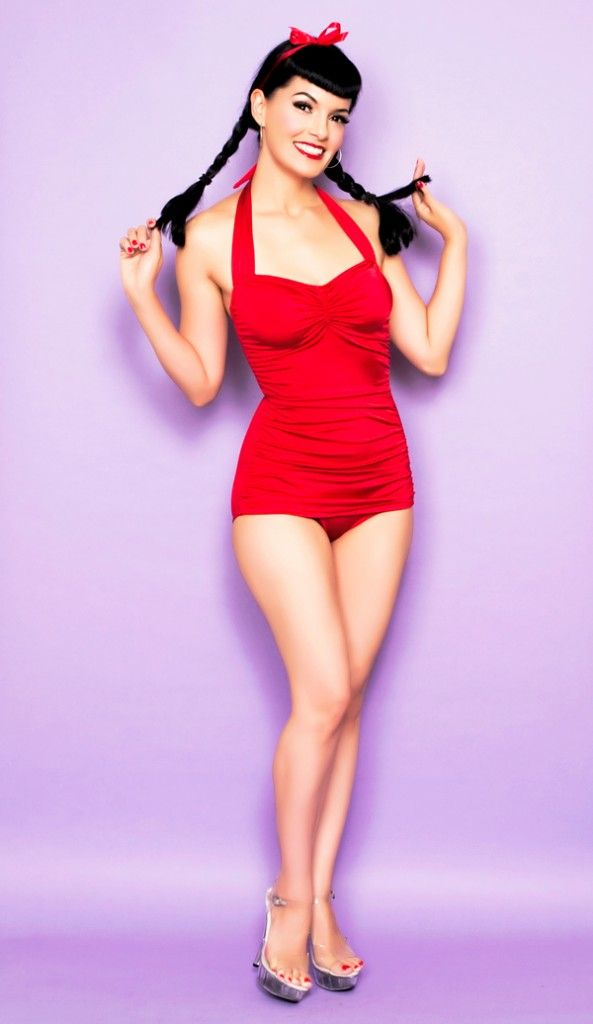 Vintage One Piece Swimsuit Part - 24: Pretty Summer Wreaths. Retro Bathing SuitsRed ...