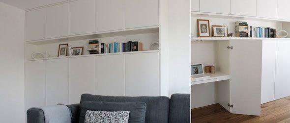 Klein kantoor thuis Interieur design by nicole & fleur - vb van hoe niet mooi