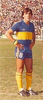 """Jorge Vazquez. El """"Gallego"""" llegaba con pasado en Atlanta como volante central, sin embargo en Boca se reveló como un goleador (Victor Hugo Morales lo bautizó """"Gallegol"""" jugando con la numero 11 como puntero """"ventilador"""" como se decia entonces"""