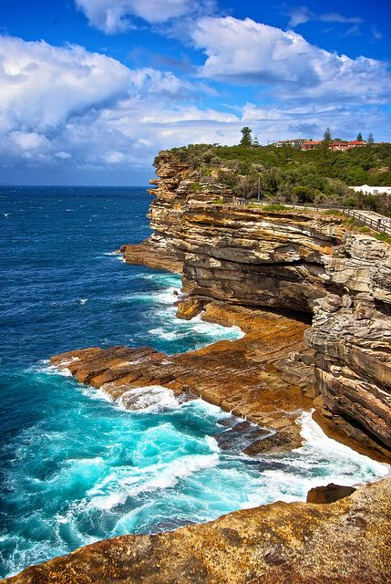 Rough Seas at The Gap, Watsons Bay, Sydney, New South Wales, Australia by dazstudios