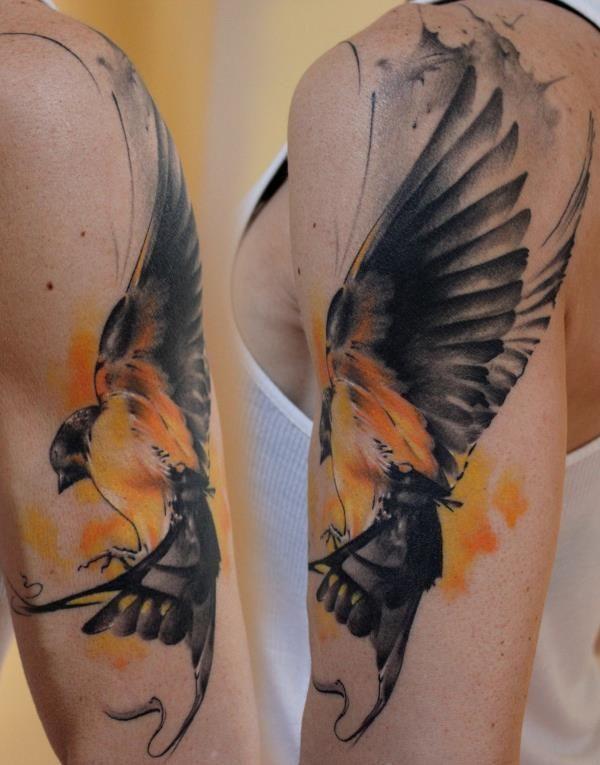 watercolor bird tattoo.   tattoo ideas & inspiration ...