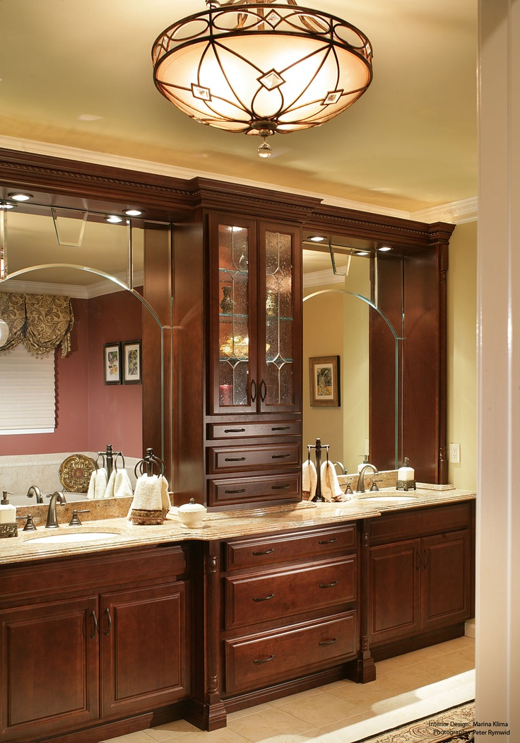 66 best vanity ideas images on pinterest bathrooms for Master bathroom double vanity