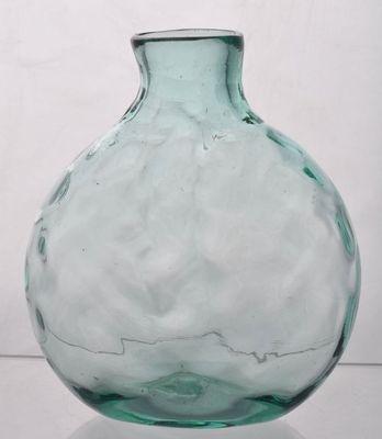 Aqua Blown Molded Clevenger Bros. Glass Windowsill Bottle Chestnut Flask