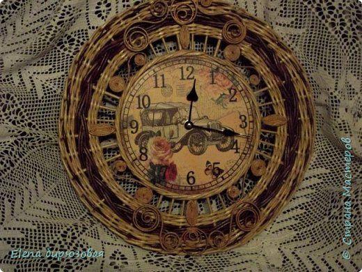 Декор предметов Интерьер Плетение Тик-так часики   Бумага газетная Трубочки бумажные фото 4
