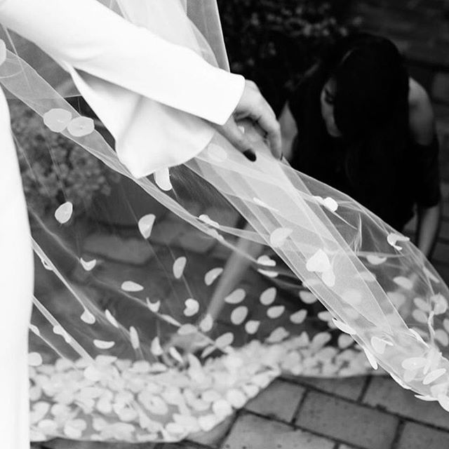 • MONCIA • Bespoke One Day Gown • Those sleeves are everything •  Photography @erinandtara • @monicagingold_beauty •