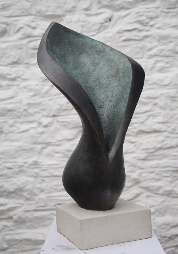 Bronze resin #sculpture by #sculptor Beatrice Hoffman titled: 'Arum Lilly'. #BeatriceHoffman