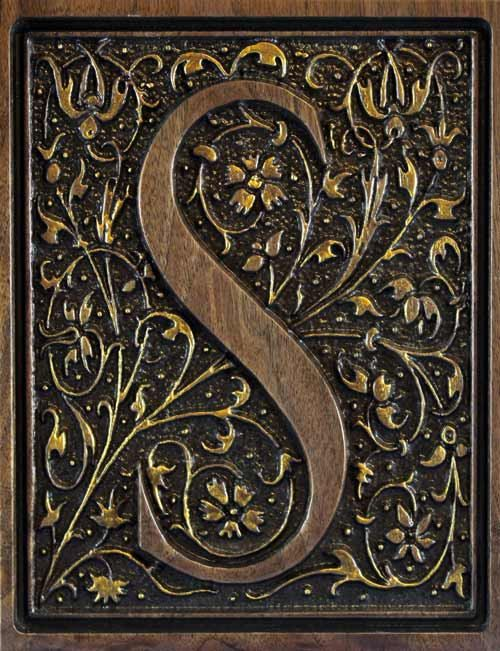 intricately carved wood monogram letter in by windwooddesigns