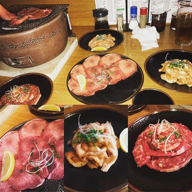 GW最終日だけ休みだったから夕飯は最近ハマってる焼肉。平塚の根坂間にあるホルモン焼肉の炉(いろり)。#平塚#焼肉#ホルモン#炉#いろり#カルビ#タン塩#はらみ#豚トロ#ロース#肉#🍖#牛肉#豚肉#yakiniku#instafood#foodpictures#foodstagram