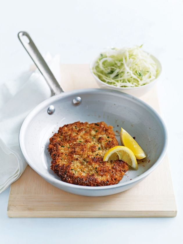lemon and chive veal schnitzel from donna hay