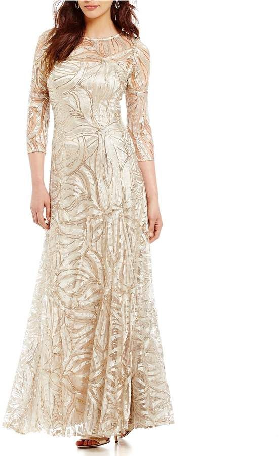 c84da315c79b Tahari ASL Embroidered A Line Gown #ASL#Tahari#Embroidered | Free ...