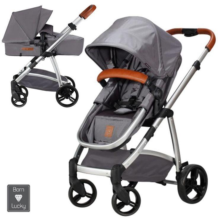 Born Lucky Rapido Grijs Combi Kinderwagen (incl. autostoel)