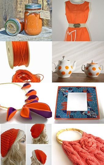 Orange you glad I made this treasury by Sue Petri on Etsy--Pinned with TreasuryPin.com