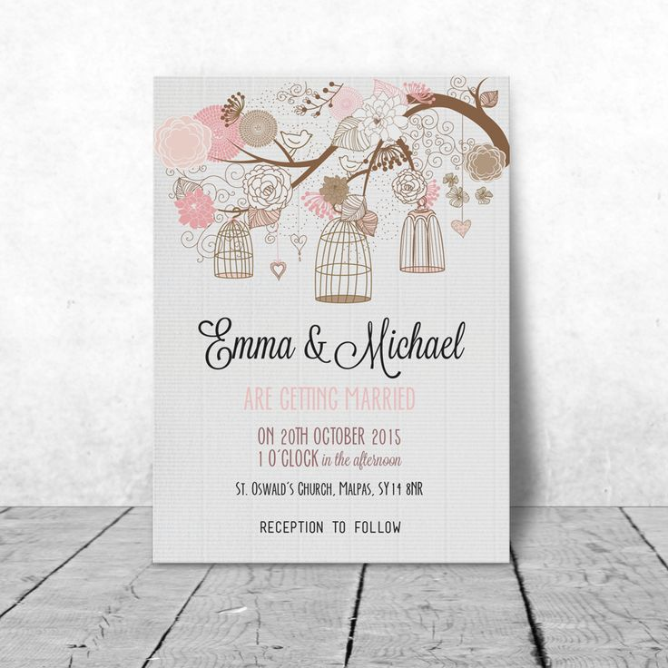 40 best Wedding Invitations images on Pinterest | Wedding stationary ...