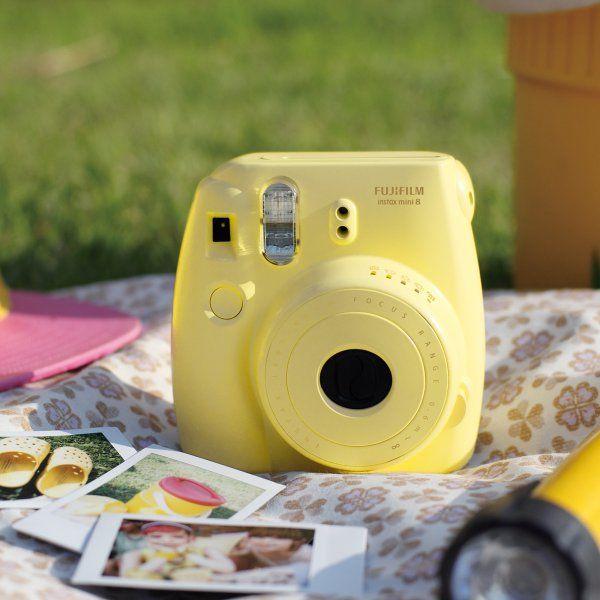 Sofortbildkamera Instax Mini 8 gelb   #vintageforever