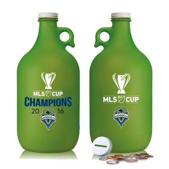 Seattle Sounders FC 2016 MLS Cup Champions 64oz. Flint Frost Glass-Finished Jug