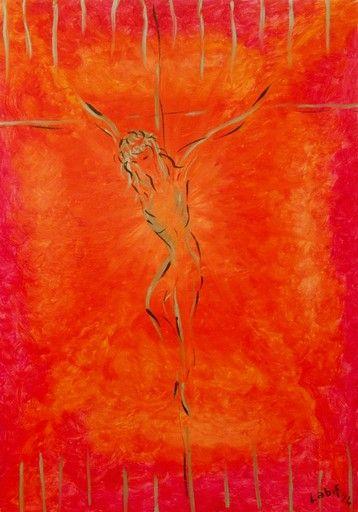 CLAUDIA VANZOLINI THE PASSION Olio su cartoncino telato Cm 35 x 50