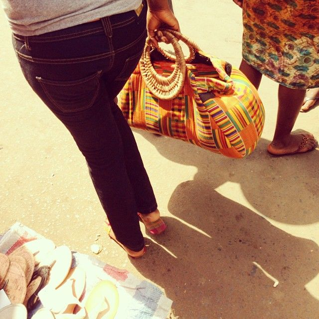 Seen on the street in Freetown. African fashion at it's best!