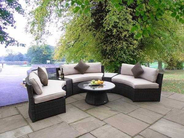 Sunbrella Curved Wicker Rattan Patio Furniture Set w/ Coffee Table San Diego Wholesale SdI Deals Vista, CA