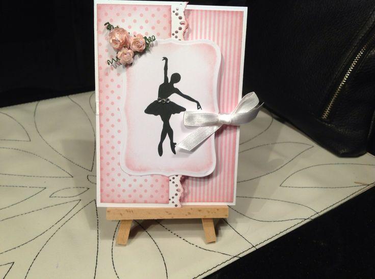 Konfirmations kort med ballerina