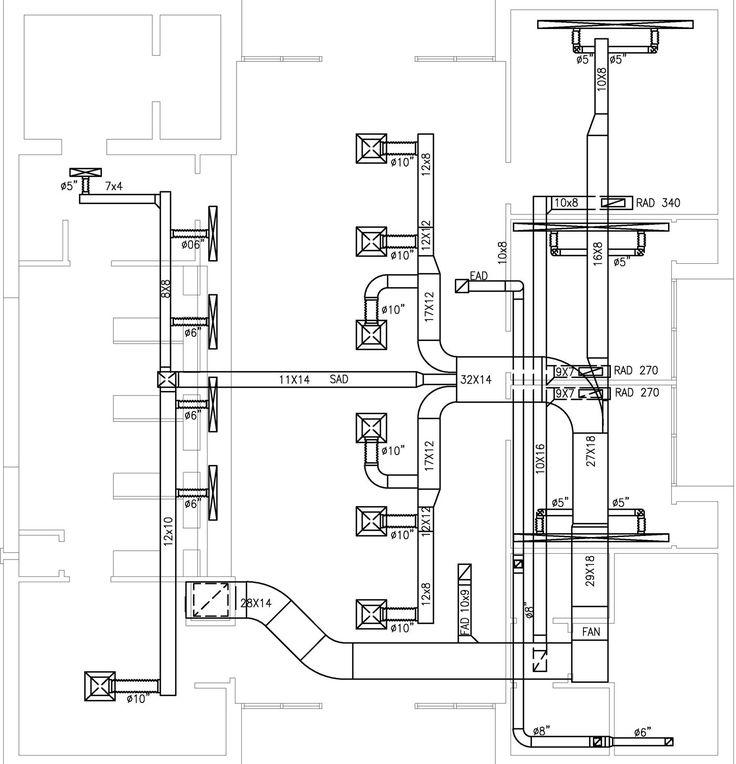 Hvac Plans By Raymond Alberga At Coroflot Com Hvac Design Ventilation Design Hvac System Design