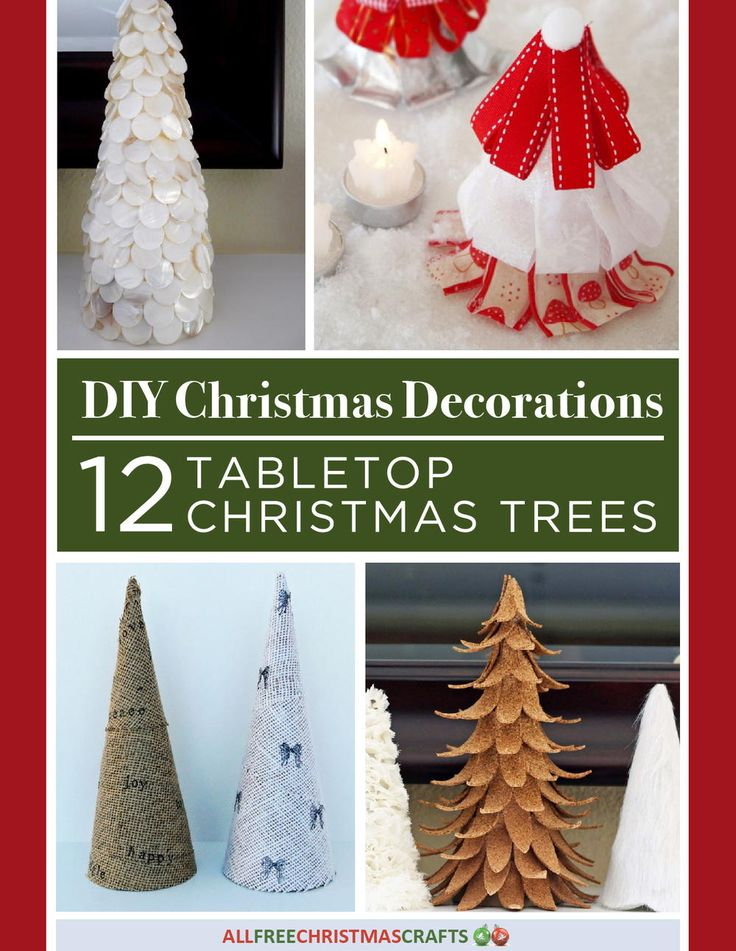 DIY Christmas Decorations: 12 Tabletop Christmas Trees free eBook | AllFreeChristmasCrafts.com