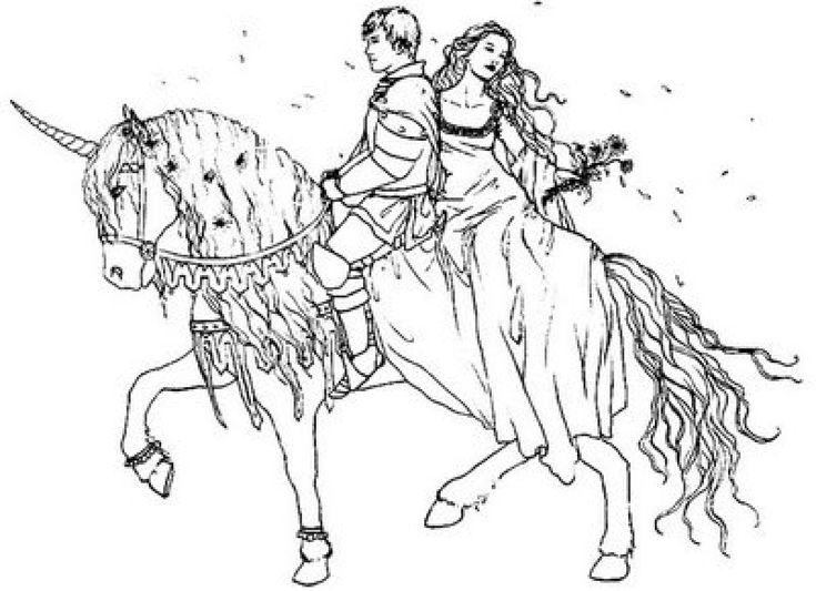 princeandprincessonhorseprintablecoloringpages - Coloring Pages Horses Printable