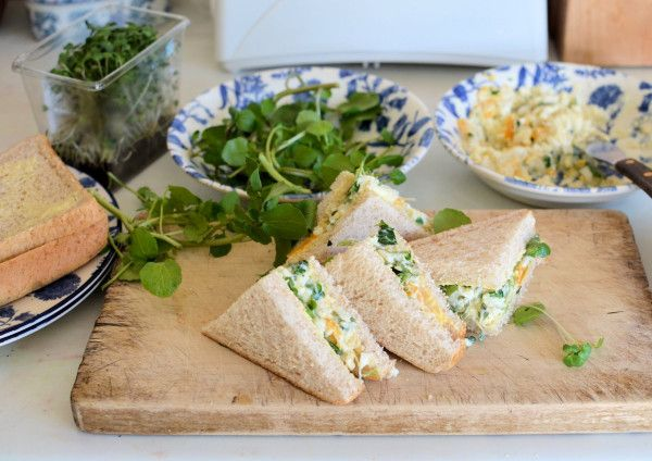 Egg and cress sandwiches #HealthyEggMeals