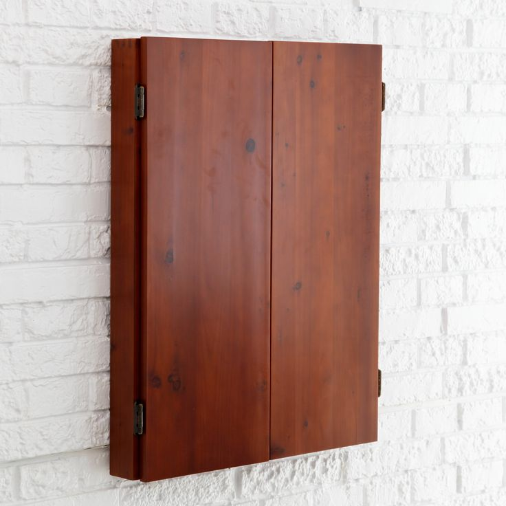 Have to have it. Metropolitan Dart Board Solid Wood Cabinet for Bristle Dart Boards - $99.98 @hayneedle